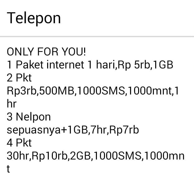 Penampakan Indosat Only For You