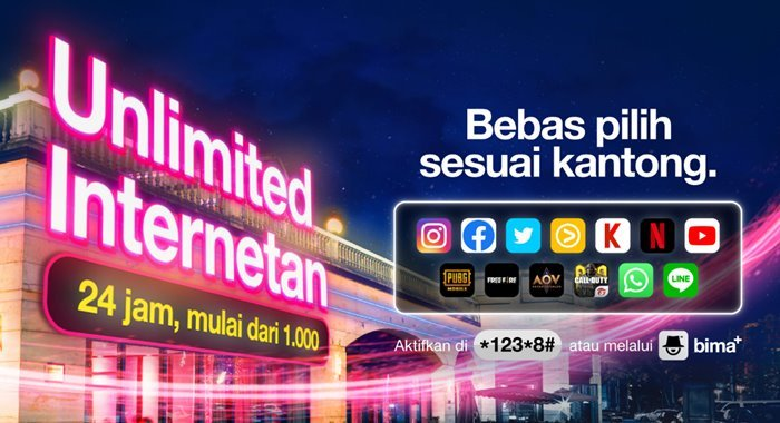 Paket Unlimited Internetan Tri