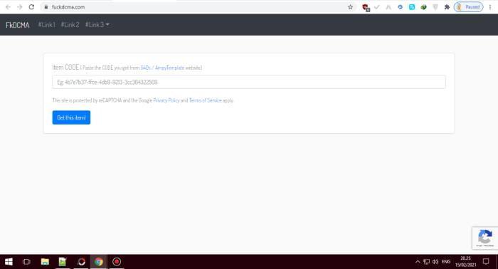 Buka Website FKDCMA