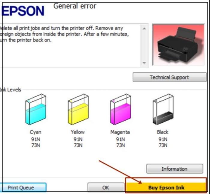 Printer Epson L Series Minta SN ID Tinta