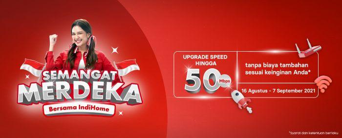 Gratis Upgrade Speed Indihome 50mbps HUT RI